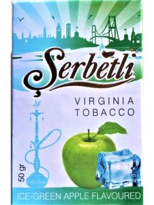 Табак Serbetli Ice Green apple (50 g) (Ледяное Зеленое Яблоко)