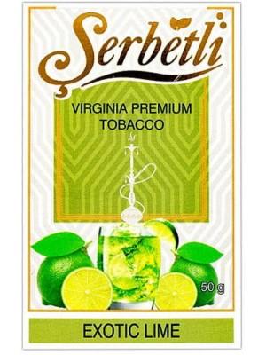 Табак Serbetli Exotic lime (50 g) (Экзотический Лайм)
