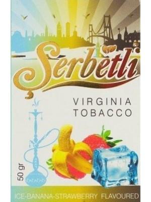Табак Serbetli Ice-Bananan - Strawberry (50 g) (Ледяной Банан и Клубника)