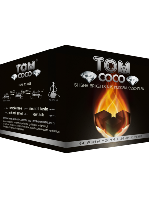 Уголь Tom COCO Diamond (1kg) (64 шт.)