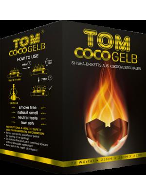 Уголь Tom COCO Yellow (1kg) (72 шт.)