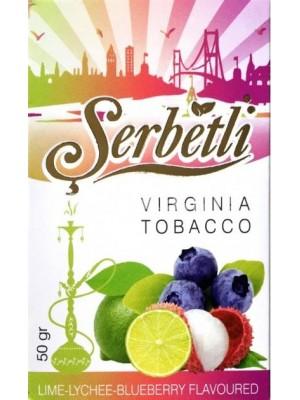Табак Serbetli Lime Lychee blueberry (50g) (Лайм, Личи, Черника)