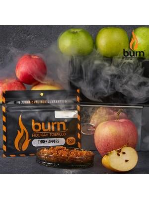 Табак Burn THREE APPLES (100 g) (Двойное яблоко)