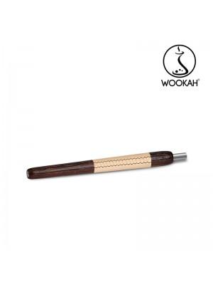Ручка Мундштук Wenge бежевая кожа